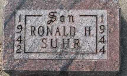 SUHR, RONALD H. - Dixon County, Nebraska   RONALD H. SUHR - Nebraska Gravestone Photos