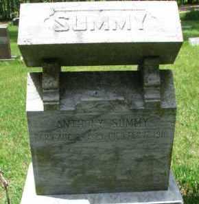 SUMMY, ANTHONY - Dixon County, Nebraska   ANTHONY SUMMY - Nebraska Gravestone Photos