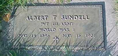 SUNDELL, ALBERT T. (WW I MARKER) - Dixon County, Nebraska | ALBERT T. (WW I MARKER) SUNDELL - Nebraska Gravestone Photos