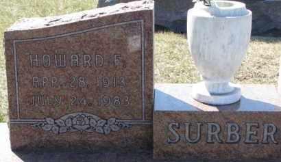 SURBER, HOWARD F. - Dixon County, Nebraska | HOWARD F. SURBER - Nebraska Gravestone Photos