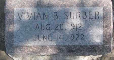 SURBER, VIVIAN B. - Dixon County, Nebraska | VIVIAN B. SURBER - Nebraska Gravestone Photos