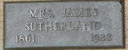 SUTHERLAND, MRS. JAMES - Dixon County, Nebraska | MRS. JAMES SUTHERLAND - Nebraska Gravestone Photos