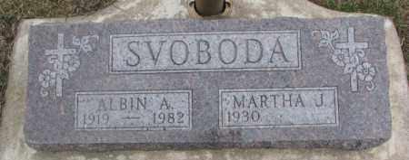 SVOBODA, ALBIN A. - Dixon County, Nebraska | ALBIN A. SVOBODA - Nebraska Gravestone Photos