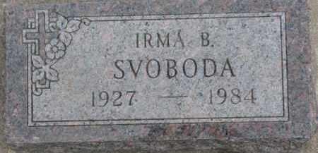 SVOBODA, IRMA B. - Dixon County, Nebraska | IRMA B. SVOBODA - Nebraska Gravestone Photos