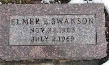 SWANSON, ELMER E. - Dixon County, Nebraska | ELMER E. SWANSON - Nebraska Gravestone Photos