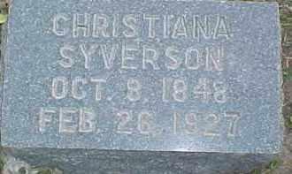 SYVERSON, CHRISTIANA - Dixon County, Nebraska | CHRISTIANA SYVERSON - Nebraska Gravestone Photos