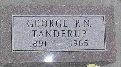 TANDERUP, GEORGE P.N. - Dixon County, Nebraska | GEORGE P.N. TANDERUP - Nebraska Gravestone Photos