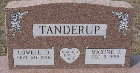 TANDERUP, LOWELL D. - Dixon County, Nebraska | LOWELL D. TANDERUP - Nebraska Gravestone Photos