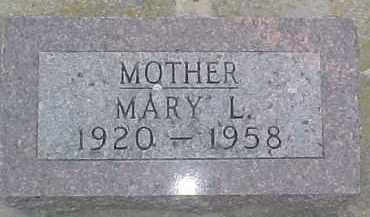TANDERUP, MARY L. - Dixon County, Nebraska   MARY L. TANDERUP - Nebraska Gravestone Photos