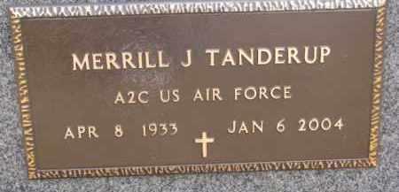 TANDERUP, MERRILL J. (MILITARY MARKER) - Dixon County, Nebraska   MERRILL J. (MILITARY MARKER) TANDERUP - Nebraska Gravestone Photos