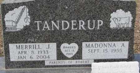 TANDERUP, MADONNA A. - Dixon County, Nebraska | MADONNA A. TANDERUP - Nebraska Gravestone Photos