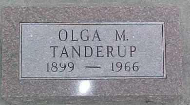 TANDERUP, OLGA M. - Dixon County, Nebraska | OLGA M. TANDERUP - Nebraska Gravestone Photos