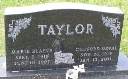 TAYLOR, CLIFFORD ORVAL - Dixon County, Nebraska   CLIFFORD ORVAL TAYLOR - Nebraska Gravestone Photos