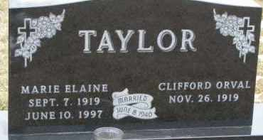TAYLOR, MARIE ELAINE - Dixon County, Nebraska   MARIE ELAINE TAYLOR - Nebraska Gravestone Photos