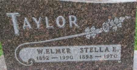 TAYLOR, STELLA E. - Dixon County, Nebraska | STELLA E. TAYLOR - Nebraska Gravestone Photos