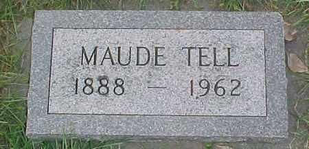 TELL, MAUDE - Dixon County, Nebraska | MAUDE TELL - Nebraska Gravestone Photos