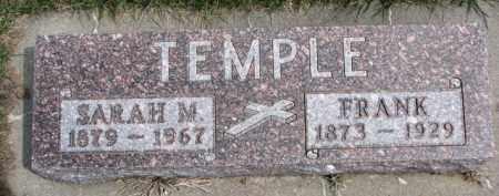 TEMPLE, SARAH M. - Dixon County, Nebraska | SARAH M. TEMPLE - Nebraska Gravestone Photos