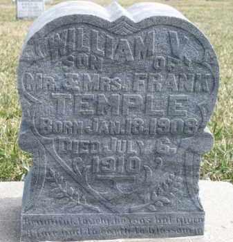 TEMPLE, WILLIAM V. - Dixon County, Nebraska | WILLIAM V. TEMPLE - Nebraska Gravestone Photos
