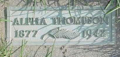 THOMPSON, ALPHA - Dixon County, Nebraska | ALPHA THOMPSON - Nebraska Gravestone Photos