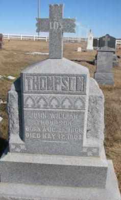 THOMPSON, JOHN WILLIAM - Dixon County, Nebraska | JOHN WILLIAM THOMPSON - Nebraska Gravestone Photos