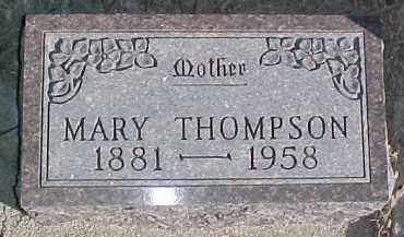 THOMPSON, MARY - Dixon County, Nebraska | MARY THOMPSON - Nebraska Gravestone Photos