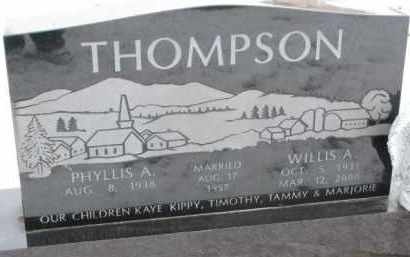 THOMPSON, WILLIS A. - Dixon County, Nebraska | WILLIS A. THOMPSON - Nebraska Gravestone Photos