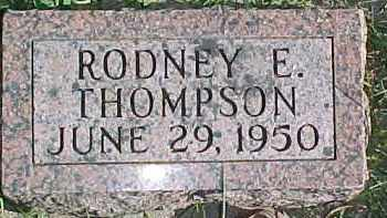 THOMPSON, RODNEY E. - Dixon County, Nebraska | RODNEY E. THOMPSON - Nebraska Gravestone Photos