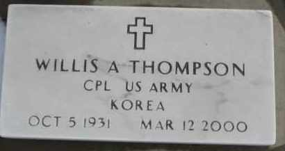 THOMPSON, WILLIS A. (MILITARY MARKER) - Dixon County, Nebraska | WILLIS A. (MILITARY MARKER) THOMPSON - Nebraska Gravestone Photos