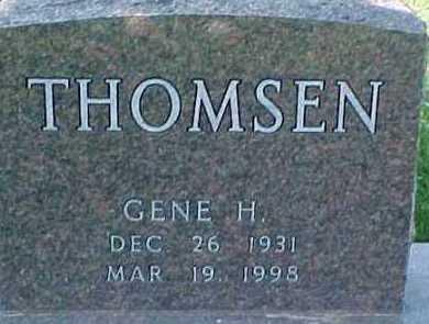 THOMSEN, GENE H. - Dixon County, Nebraska   GENE H. THOMSEN - Nebraska Gravestone Photos