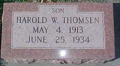 THOMSEN, HAROLD W. - Dixon County, Nebraska   HAROLD W. THOMSEN - Nebraska Gravestone Photos
