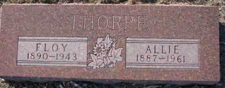 THORPE, ALLIE - Dixon County, Nebraska | ALLIE THORPE - Nebraska Gravestone Photos