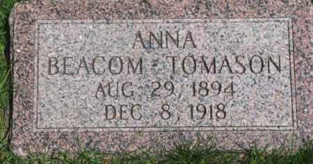 BEACOM TOMASON, ANNA - Dixon County, Nebraska | ANNA BEACOM TOMASON - Nebraska Gravestone Photos