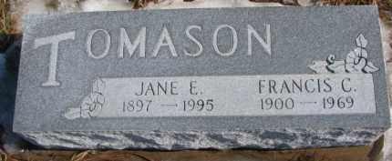 TOMASON, FRANCIS C. - Dixon County, Nebraska | FRANCIS C. TOMASON - Nebraska Gravestone Photos