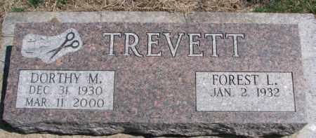 TREVETT, FOREST L. - Dixon County, Nebraska | FOREST L. TREVETT - Nebraska Gravestone Photos