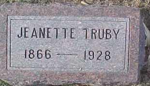 TRUBY, JEANETTE - Dixon County, Nebraska | JEANETTE TRUBY - Nebraska Gravestone Photos