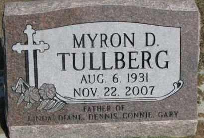 TULLBERG, MYRON D. - Dixon County, Nebraska | MYRON D. TULLBERG - Nebraska Gravestone Photos