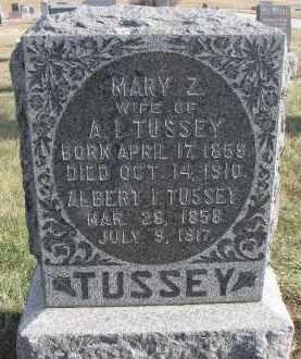 TUSSEY, MARY Z. - Dixon County, Nebraska | MARY Z. TUSSEY - Nebraska Gravestone Photos