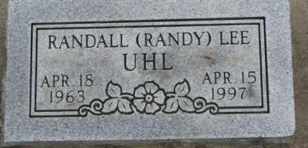UHL, RANDALL LEE - Dixon County, Nebraska | RANDALL LEE UHL - Nebraska Gravestone Photos