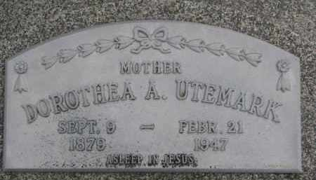 UTEMARK, DOROTHEA A. - Dixon County, Nebraska | DOROTHEA A. UTEMARK - Nebraska Gravestone Photos