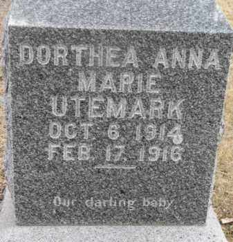 UTEMARK, DORTHEA ANNA MARIE - Dixon County, Nebraska | DORTHEA ANNA MARIE UTEMARK - Nebraska Gravestone Photos