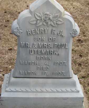 UTEMARK, HENRY F.J. - Dixon County, Nebraska | HENRY F.J. UTEMARK - Nebraska Gravestone Photos