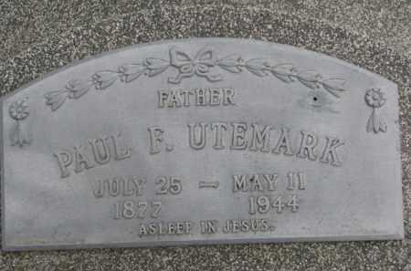UTEMARK, PAUL F. - Dixon County, Nebraska | PAUL F. UTEMARK - Nebraska Gravestone Photos