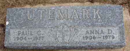 UTEMARK, ANNA D. - Dixon County, Nebraska   ANNA D. UTEMARK - Nebraska Gravestone Photos