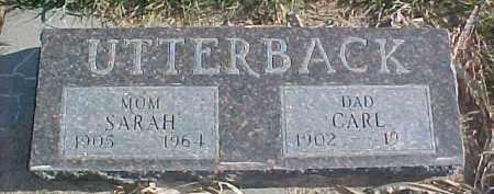 UTTERBACK, CARL - Dixon County, Nebraska | CARL UTTERBACK - Nebraska Gravestone Photos