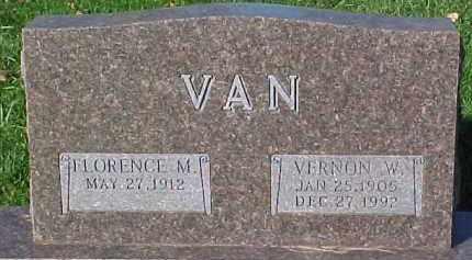 VAN, FLORENCE M - Dixon County, Nebraska | FLORENCE M VAN - Nebraska Gravestone Photos