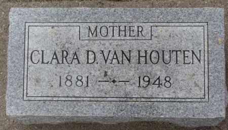 VAN HOUTEN, CLARA D. - Dixon County, Nebraska   CLARA D. VAN HOUTEN - Nebraska Gravestone Photos