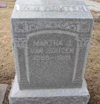 VAN HOUTEN, MARTHA J. - Dixon County, Nebraska | MARTHA J. VAN HOUTEN - Nebraska Gravestone Photos