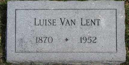 VAN LENT, LUISE - Dixon County, Nebraska   LUISE VAN LENT - Nebraska Gravestone Photos