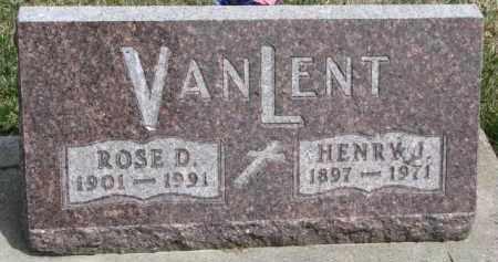 VAN LENT, ROSE D. - Dixon County, Nebraska   ROSE D. VAN LENT - Nebraska Gravestone Photos