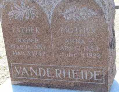 VANDERHEIDE, JOHN P. - Dixon County, Nebraska | JOHN P. VANDERHEIDE - Nebraska Gravestone Photos